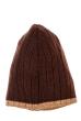 Шапка мужская с цветным ободком 254V001-1 коричнево-бежевый