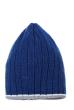 Шапка мужская с цветным ободком 254V001-1 сине-серый