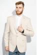 Пиджак мужской стильный 409F003 светло-бежевый