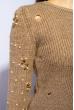 Свитер женский 120PVA1011 светло-коричневый