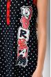 Ночная рубашка женская с принтом 107P03802 темно-синий / красный