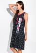 Ночная рубашка женская с принтом 107P03802 темно-синий / малиновый