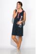 Ночная рубашка женская с принтом 107P03802 темно-синий / розовый