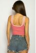 Боди женское 629F1251 с контрастной окантовкой розовый