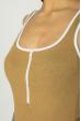 Боди женское 629F1251 с контрастной окантовкой капучино