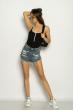 Боди женское 629F1251 с контрастной окантовкой черный