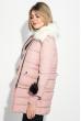Куртка женская с отстегивающимся низом, крупный брелок на рукаве 315V001 розовый