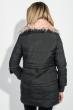 Куртка женская с отстегивающимся низом, крупный брелок на рукаве 315V001 черный