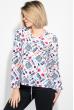 Блузка женская модный принт 64PD286-6 бело-синий , сумка