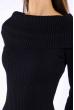 Платье вязаное с открытыми плечами 184P7045 черный