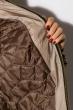 Куртка женская с меховым воротником 127P004 бежево-коричневый