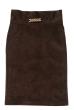 Юбка женская, с завышенной талией 5202 коричневый