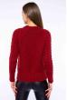 Свитер с крупной вязкой на рукавах 120PNA3036 красный