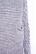 Свитер с крупной вязкой на рукавах 120PNA3036 светло-серый