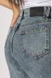 Джинсы женские с вышивкой 638F004 синий