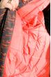 Пуховик женский прямого покроя 127PZ19-336 серо-оранжевый
