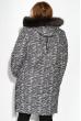 Пуховик женский прямого покроя 127PZ19-336 серо-бежевый