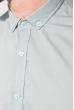 Рубашка с длинным рукавом однотонная №208F008 белый