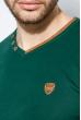 Пуловер мужской V-образный вырез 415F011 зеленый