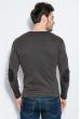 Пуловер мужской V-образный вырез 415F011 шоколадный