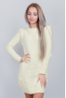 Платье женское вязаное с круглым вырезом 352K001 молочный