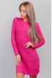 Платье женское вязаное с круглым вырезом 352K001 малиновый