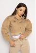 Куртка женская джинсовая 638F006 бежевый