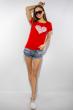 Футболка женская сердце love 85F288-3 красный