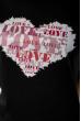 Футболка женская сердце love 85F288-3 черный