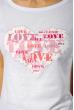 Футболка женская сердце love 85F288-3 белый