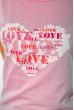 Футболка женская сердце love 85F288-3 розовый