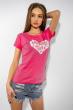 Футболка женская сердце love 85F288-3 малиновый