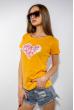 Футболка женская сердце love 85F288-3 желтый