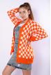 Кардиган женский 646F002 оранжево-молочный