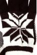 Перчатки с геометрическим узором 254V004-2 коричнево-белый