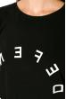 Туника женская 317F030 с надписями по кругу черный