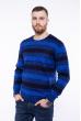Свитер в полоску  192P6013 сине-чернильный