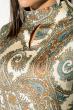 Блузка женская с узорами и длинным рукавом  81P1124 кремовый , вензеля