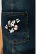 Комбинезон женский 134P3330 джинсовый темно-синий