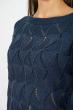 Свитер с ажурной вязкой  85F067 джинс