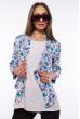 Пиджак и блуза 120P017 бирюзово-синий