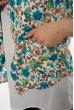 Пиджак и блуза 120P017 бирюзово-коричневый