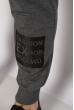 Брюки спортивные 621F010 серый меланж