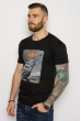 Мужская хлопковая футболка 627F012 черный