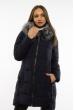 Женская приталеная куртка 120PSKL4952 темно-синий