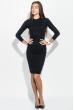 Платье женское приталенное, длинное 275V001 черный