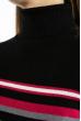 Гольф трехцветный  618F152 черный