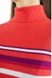 Гольф трехцветный  618F152 кораллово-фиолетовый