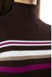 Гольф трехцветный  618F152 шоколадный