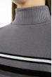 Гольф трехцветный  618F152 серый